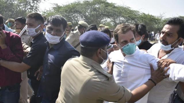 राहुल गाँधी और प्रियंका गाँधी हुए अरेस्ट | उत्तर प्रदेश पुलिस ने किआ हाथरस जाते हुए अरेस्ट