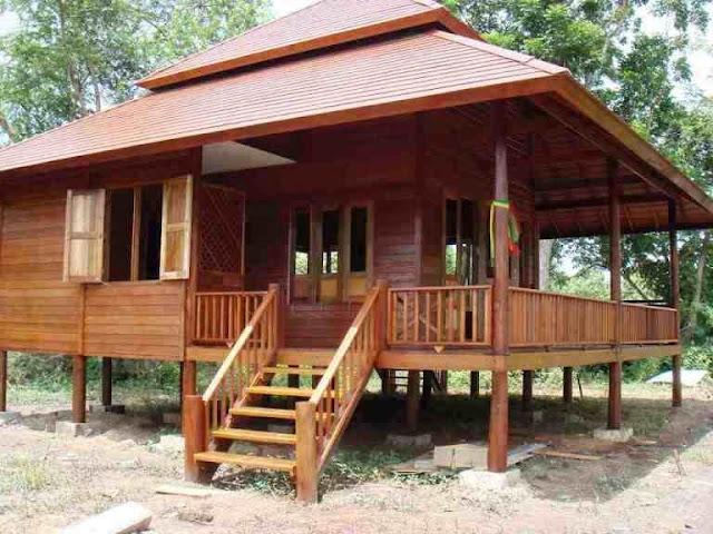 rumah kayu model klasik