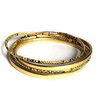 Bracelet cuir impression reptile