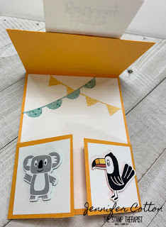 This Bonanza Buddies Double Dutch card uses lots of retiring Stampin' Up! products!  Get them by June 2, 2020!  Details on the blog.  #StampTherapist #StampinUp