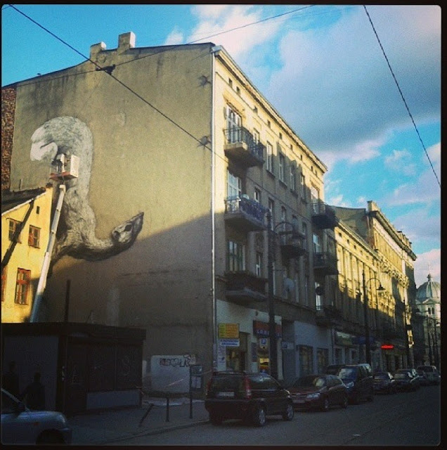 Street Artist ROA Working on a New Mural in Lodz, Poland for Fundacja Urban Forms. 2