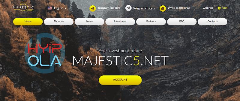[Problem] Review Majestic5 - Dự án chiến nhanh tốt để đầu tư - Lãi 5% hằng ngày