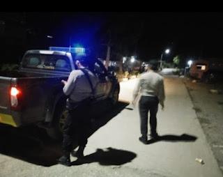 Cgah Terjadinya Tindak Pidana, Personil Polsek Malua Polres Enrekang Laksanakan Patroli Blue Light