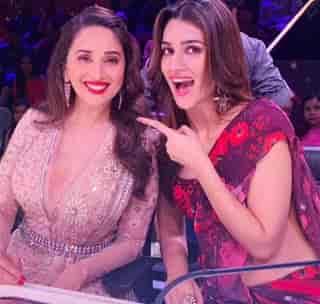 Kriti Sanon With Madhuri Dixit