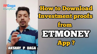 How to download Investment Statements (proofs) from ETMONEY App? I Investment Ideas by APDaga