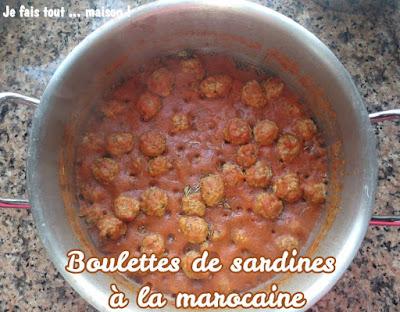 Boulettes de sardines à la sauce tomate