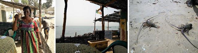 Lunchen op het strand in Senegal