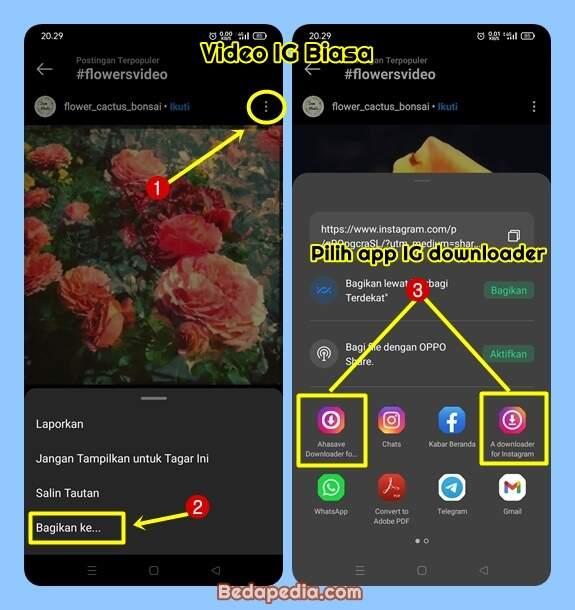cara download video IG menggunakan aplikasi