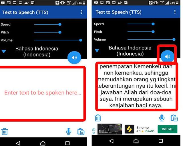 cara buat teks menjadi suara