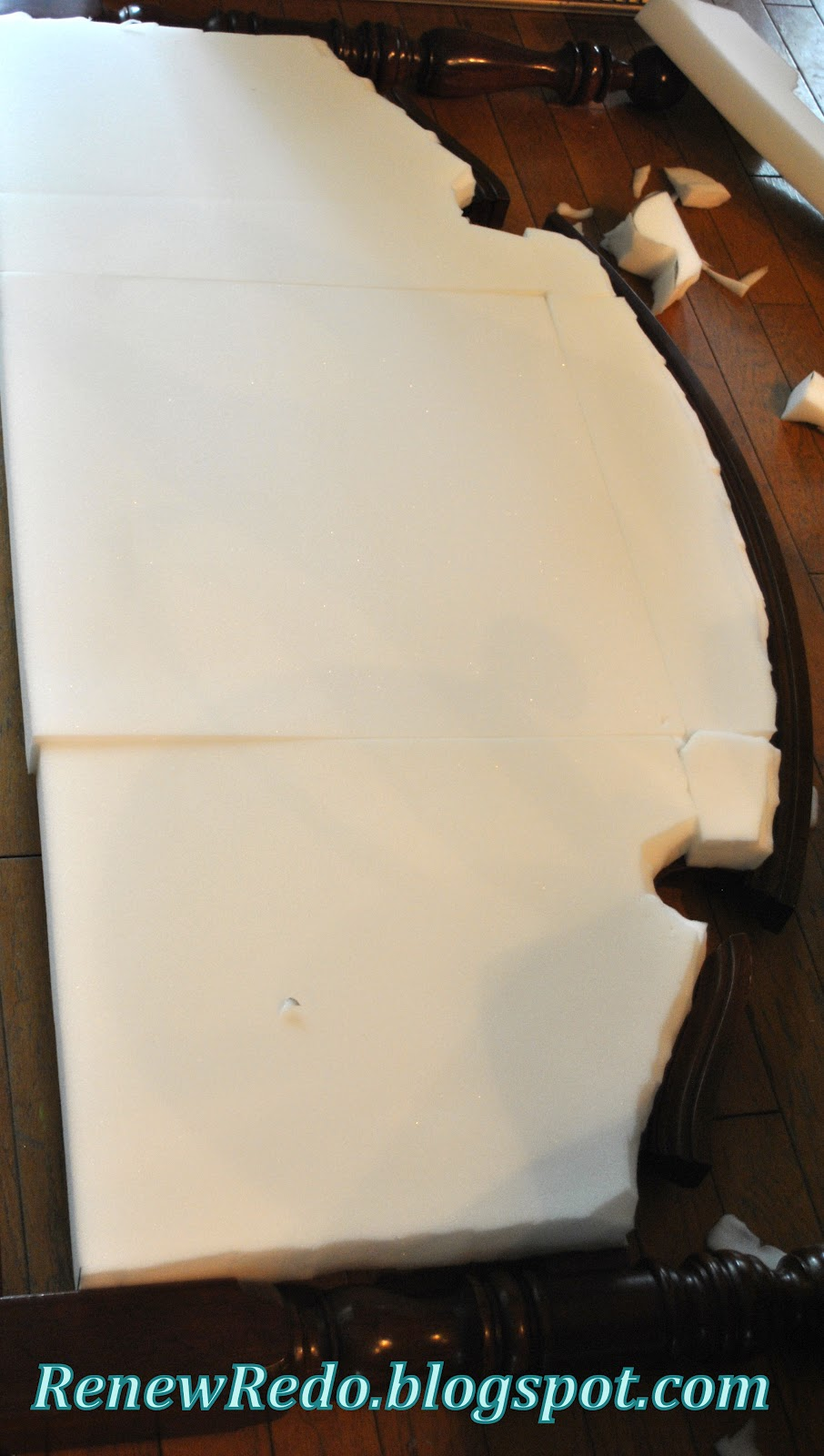 ReNew ReDo!: Upholstering An Old Headboard ~ How To
