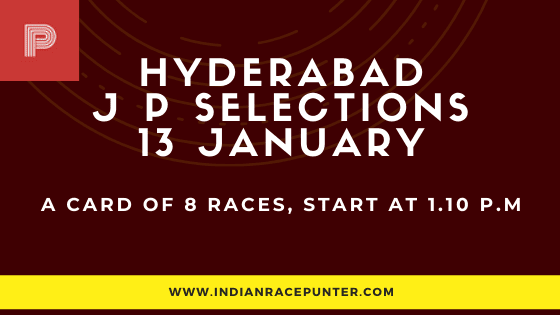 Hyderabad Jackpot Selections 13 January, Jackpot Selections by indianracepunter, free indian horse racing tips