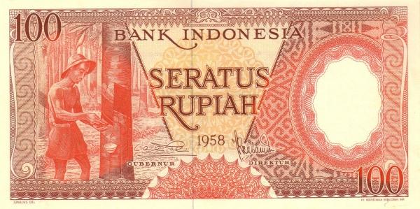 100 rupiah 1959 depan