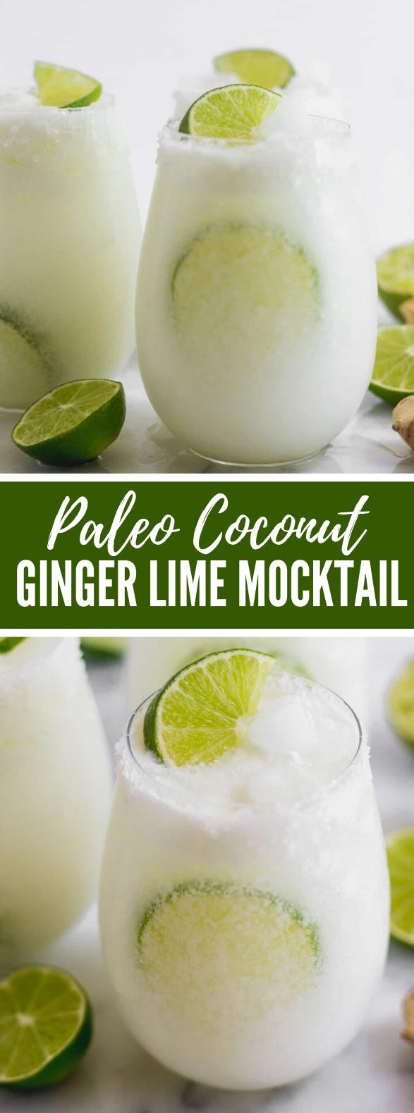 PALEO COCONUT GINGER LIME MOCKTAIL #drinks #whole30