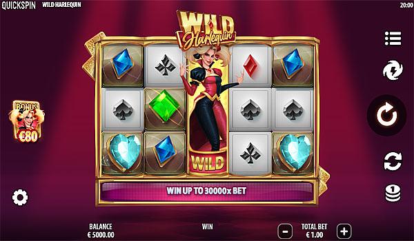 Main Gratis Slot Indonesia - Wild Harlequin Quickspin