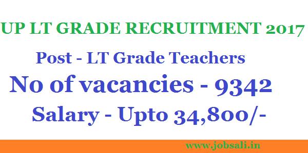 Teaching jobs, UP LT Grade Teacher Recruitment, LT Grade vacancy in UP