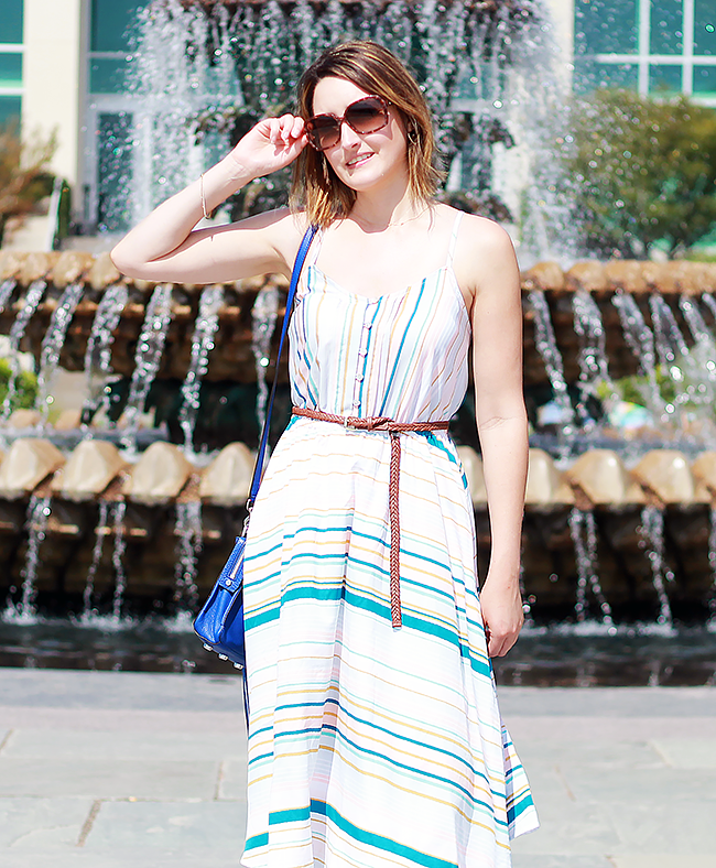 LC Lauren Conrad Striped Midi Dress