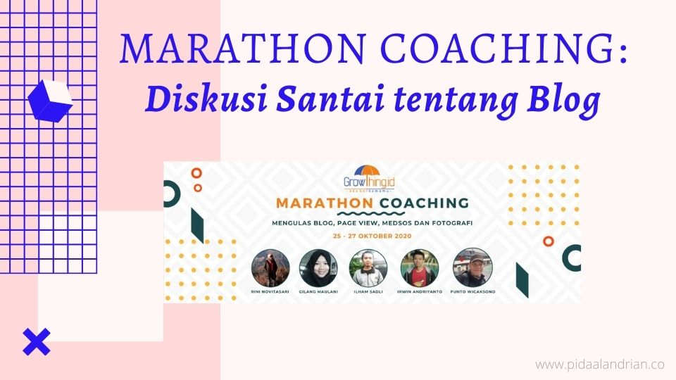 Marathon coaching diskusi santai tentang blog