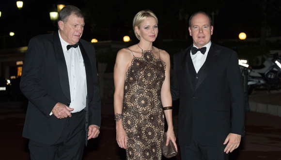 Princess Charlene, who married Prince Albert II in July last year, attended the South Africa Gala night in Monaco