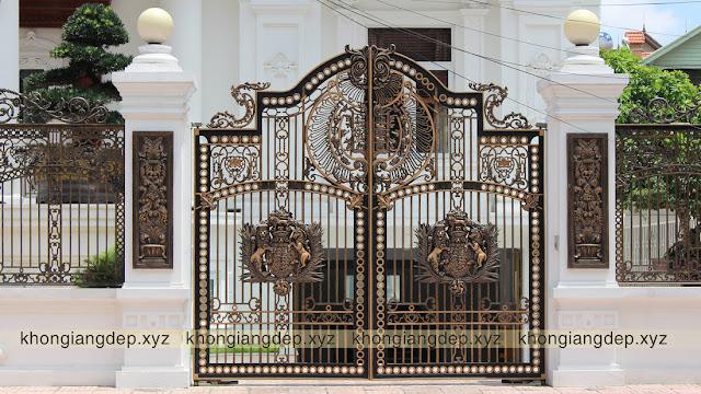 Cổng biệt thự phong cách châu Âu