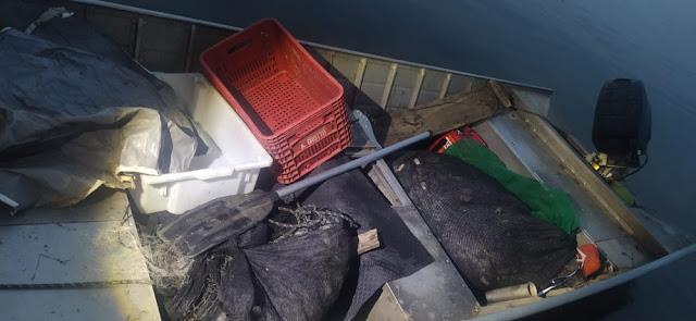 Polícia flagra homem com 1,1 mil metros redes de pesca no período da piracema, - Adamantina Notìcias