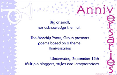 Anniversaries, this month's Monthly Poetry Group theme | Graphic property of www.BakingInATornado.com | #poetry #poem