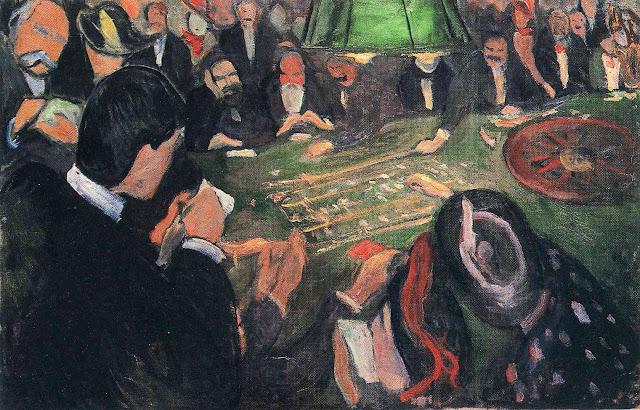 Эдвард Мунк - За рулеткой. 1892
