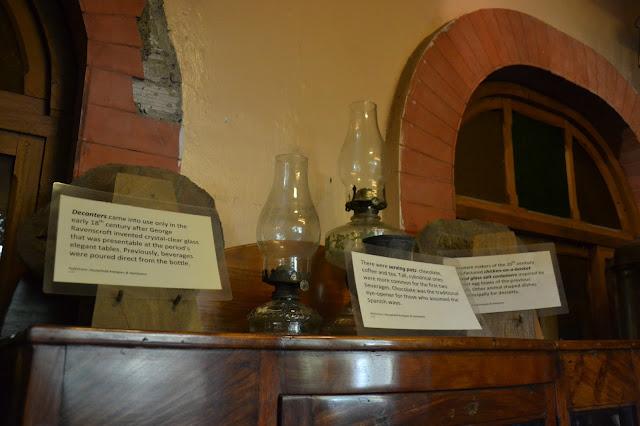 antique serving pot and decanter