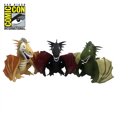 "San Diego Comic-Con 2017 Exclusive Game Of Thrones Dragons 5"" Plush Box Set by Factory Entertainment"