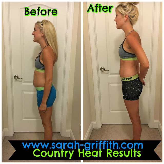Country Heat Results, Womens Country Heat results, weight loss after a miscarriage, sarah griffith, country heat, country heat transformation,