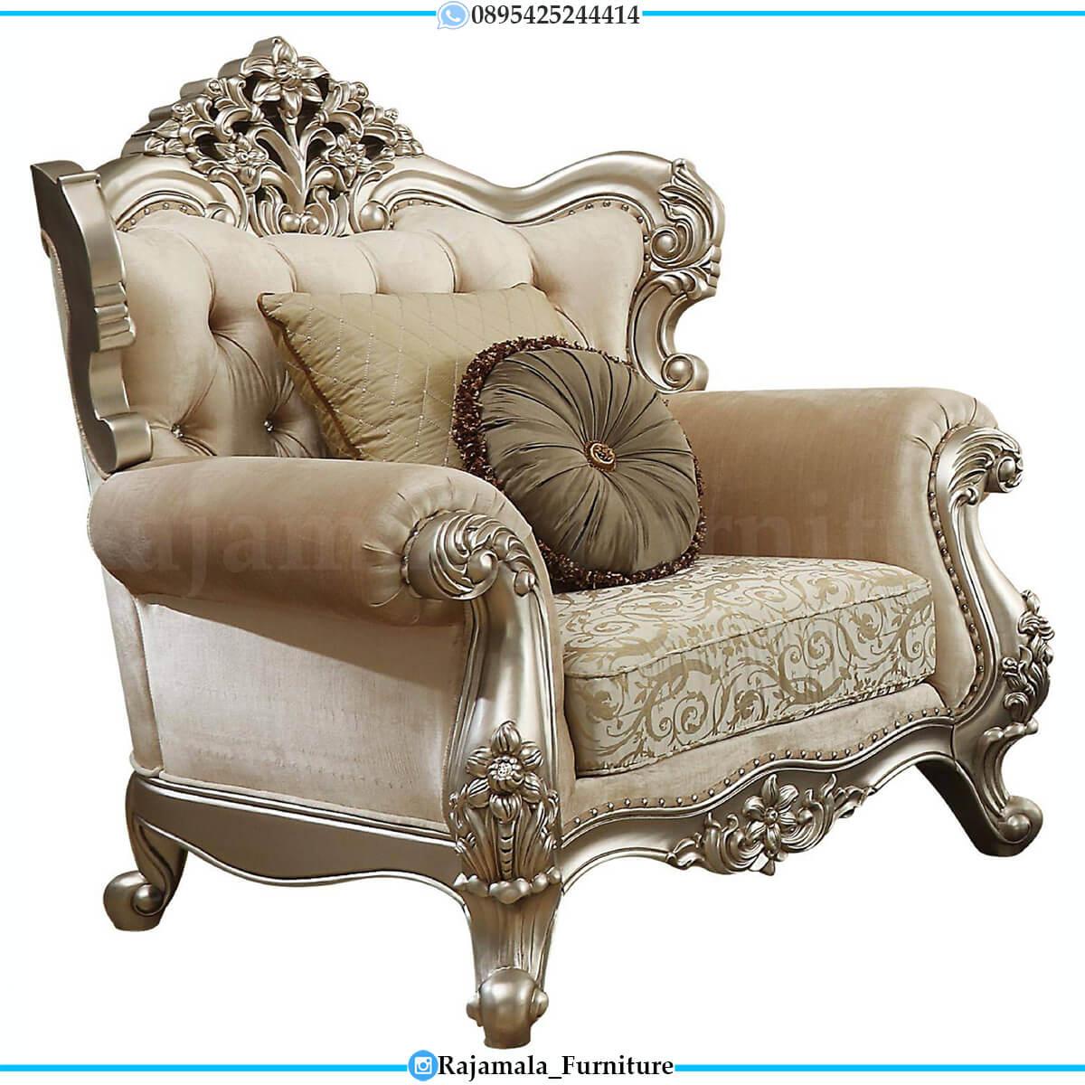Sofa Tamu Mewah Silver Solid Excellent Art Duco Color RM-0730