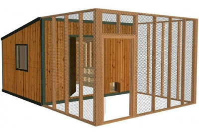 Build a backyard chicken coop.