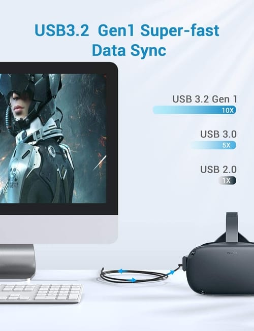 Yoobao Type C Quest Link Cable USB 3.2 High Speed