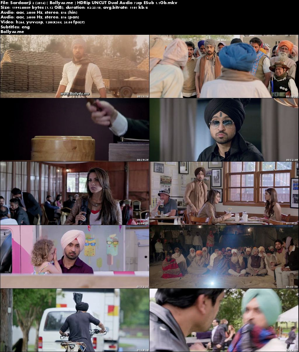 Sardaarji 2 2016 HDRip 450MB UNCUT Hindi Dual Audio 480p ESub Download