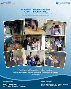 Penyaluran Bantuan Untuk 32 Dhuafa