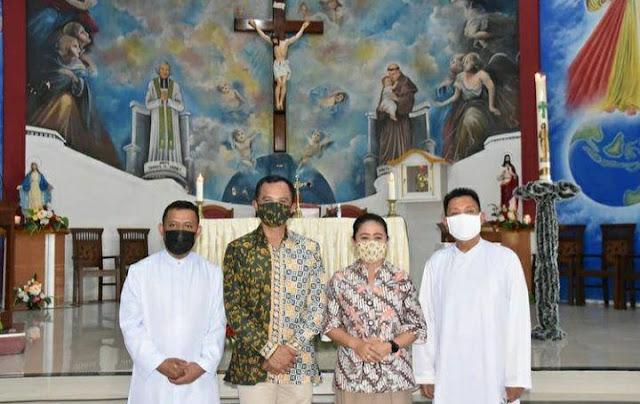 Eko Jokowiyono Hadiri Sertijab Pastor Paroki St. Yohanes Maria Vianney Halong