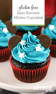 Easy Sorcerer Mickey Cupcakes Recipe