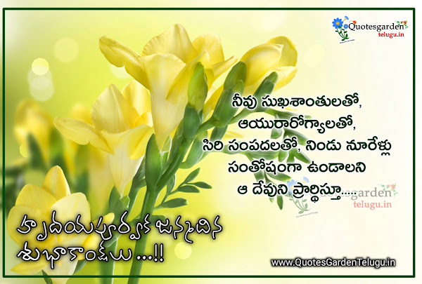 special birthday wishes to son in telugu