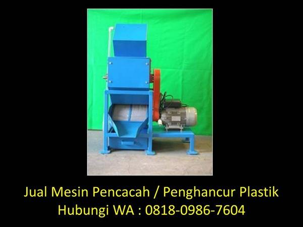 mesin penghancur plastik sederhana di bandung