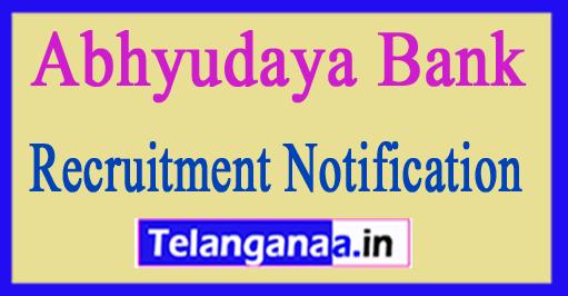 Abhyudaya Bank Recruitment Notification