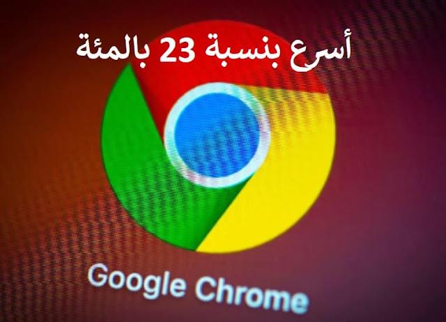 ميزة جديدة على متصفح جوجل كروم يجعله أسرع بنسبة 23 بالمئة