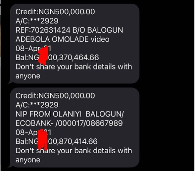 Respect me, I make millions daily- Bobrisky shows screenshot of his bank account