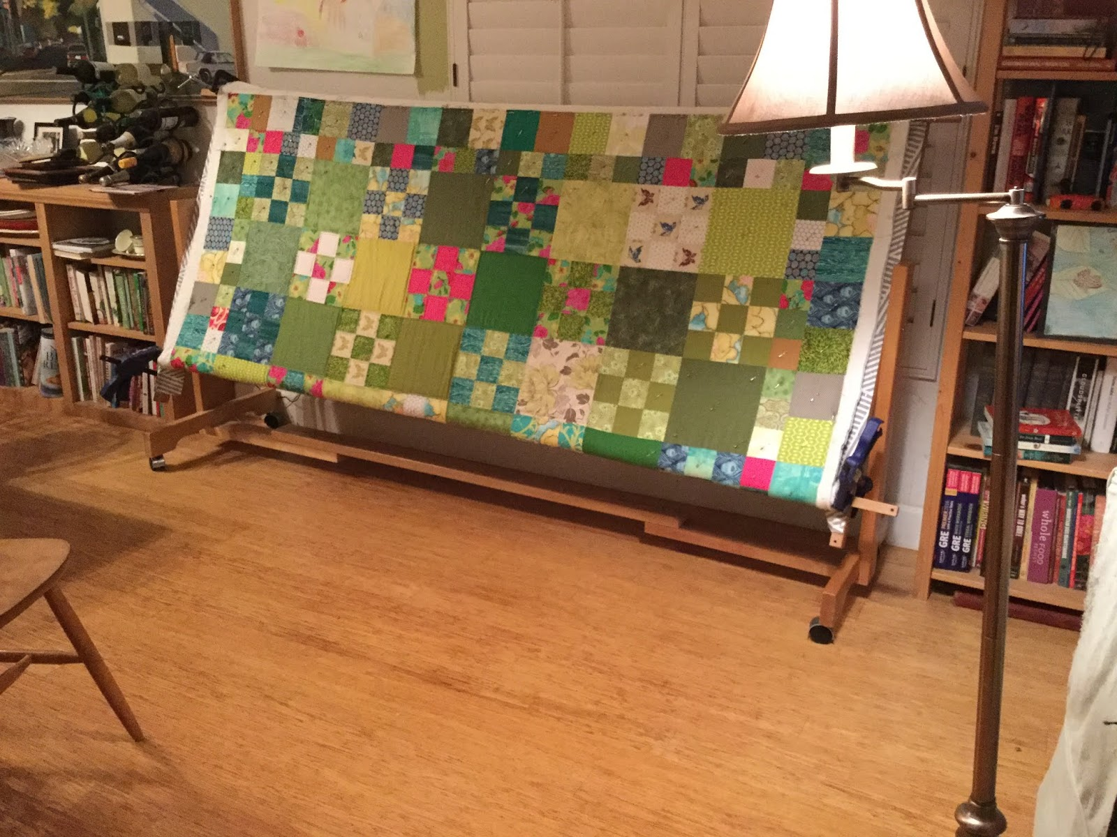 Setting Up A Quilt Frame Peekamoose Mountain Quilts