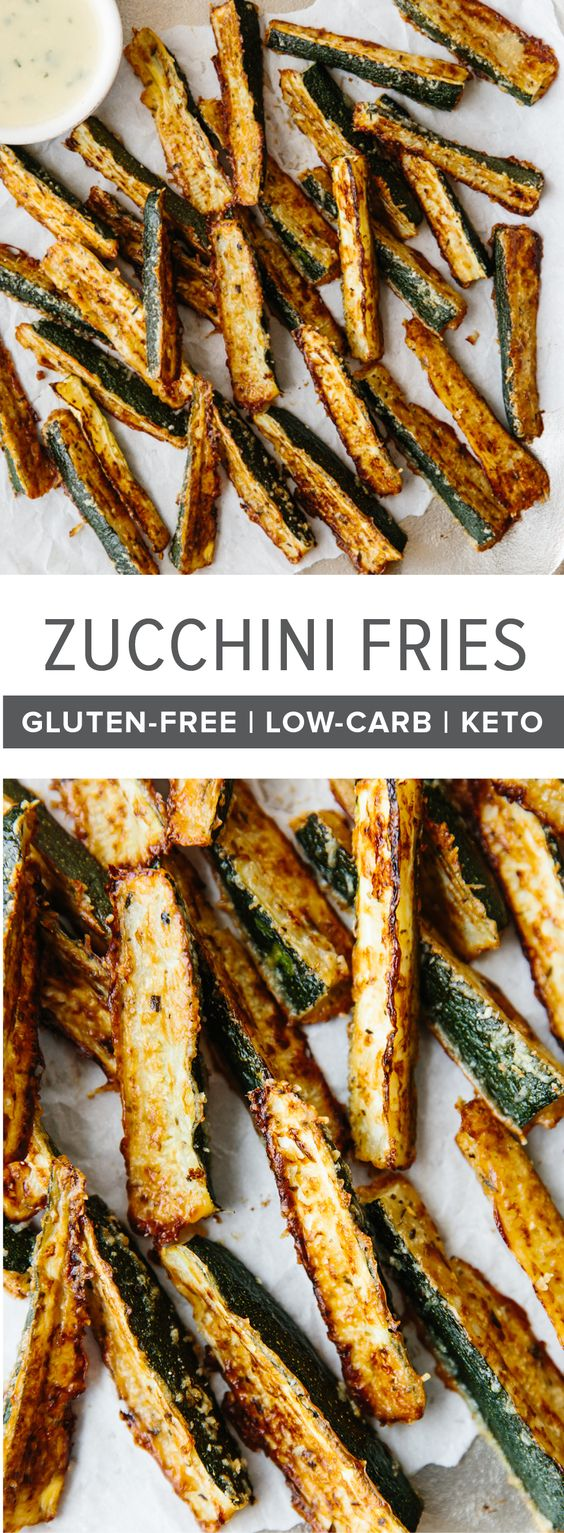 These baked zucchini fries are ultra cheesy and flavorful with freshly grated Parmesan cheese and Italian spices. Watch the video above to see how easy they are to make!