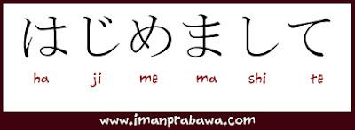 Arti Hajimemashite Dalam Bahasa Jepang
