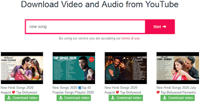 select youtube video to download
