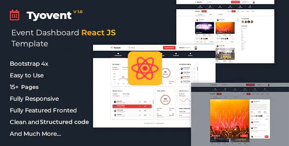 Best Event Management Dashboard ReactJS Template