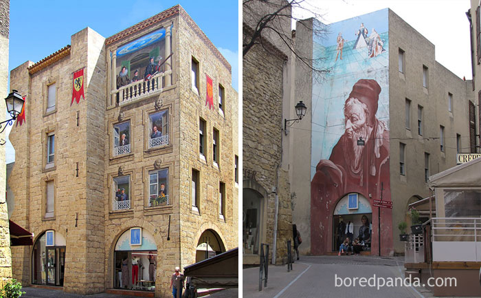 10+ Incredible Before & After Street Art Transformations That'll Make You Say Wow - Nostradamus, Salon De Provence, France
