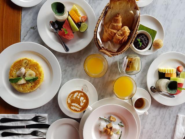 Breakfast at Alaya Ubud Resort, Ubud-Bali