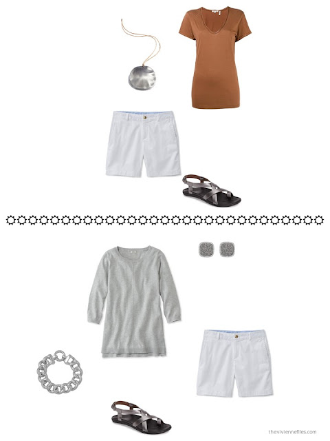 ideas for how to wear white shorts