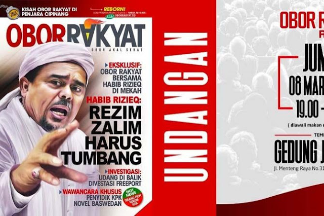 Terbit Besok, Obor Rakyat Sajikan Wawancara Khusus dengan Habib Riziq
